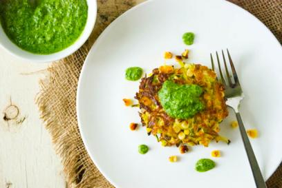 corn and zucchini fritters