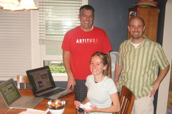 Stephen, Molly, and I launching the site htis morning.