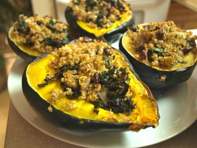 Whole Grain Stuffed Acorn Squash