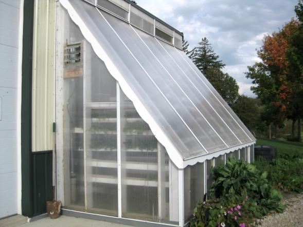 Exterior of Stored Solar Passive Greenhouse