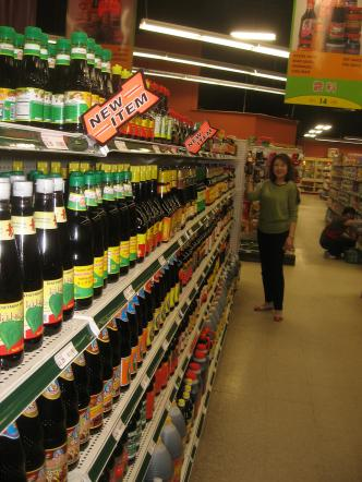 Alice Fung in the soy sauce aisle at United Noodles