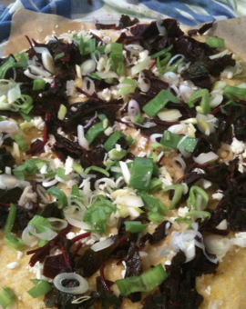Our amaranth pizza