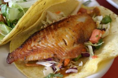 Aurelia's fish tacos