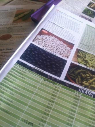 Comparison shopping for seeds is a major planning step
