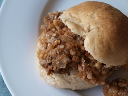 Sloppy Joe made with bulgur