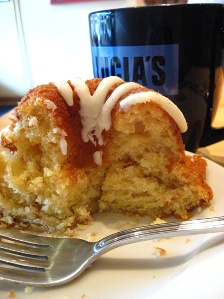"Lucia's Budapest bundt cake: ""not too sweet, just sweet enough -- which is a good thing..."""