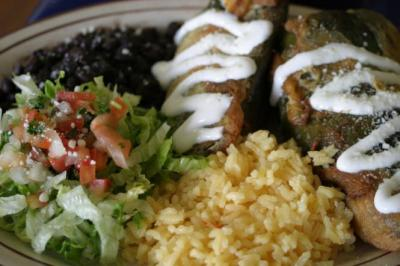 Catalina's chile relleno