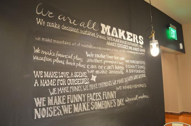 Makers Cafe serves up some local affirmations, too