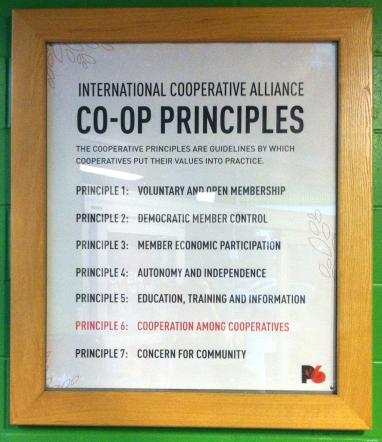 Co-op principles, posted at the Seward Co-op