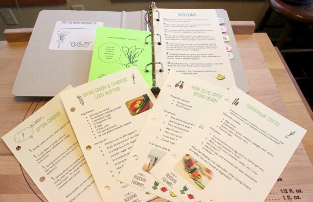 A sample of the enrichment packs for children from Budding Farmers
