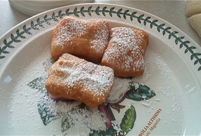 Finished beignets: one of the successes of the year.