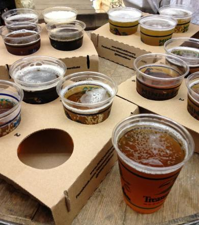 Four beer flights