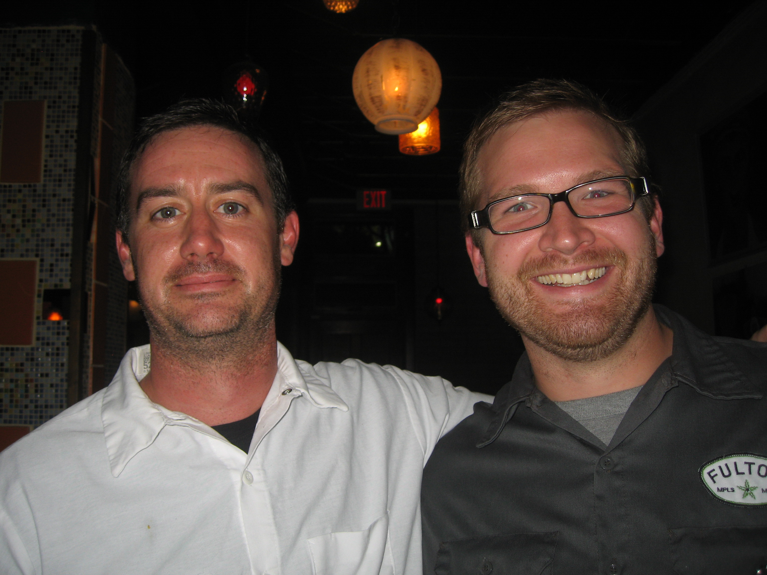 Chef Kevin Kathman (left) and Brewer Jim Diley