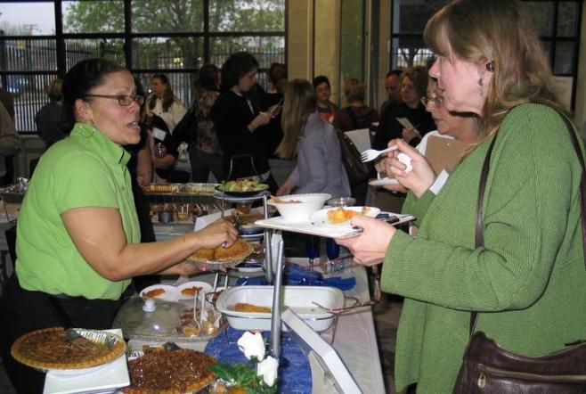 "A recent ""food fair"" held at Kindred Kitchen"