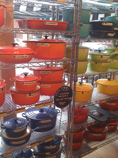 Le Creuset (in Red for Valentine's Day) at Cooks of Crocus Hill