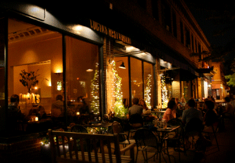 Lucia's Restaurant at Night