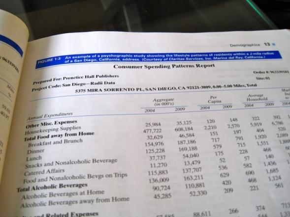 An example of a consumer spending report