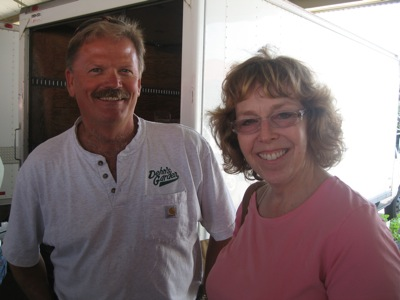 "Susan Berkson from ""Fresh and Local"" and Bob Dehn from Dehn's Herbs"