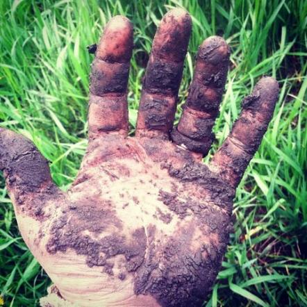 What our hands look like during these muddy days