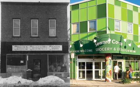 The old Seward Co-op and the new one