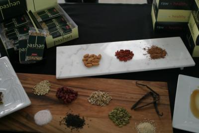 Local producer Pashen on display at the Midwest Pantry food show.