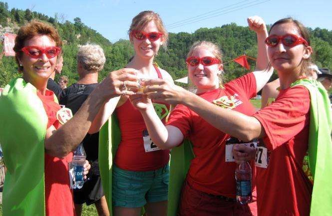 Rhubarb runners toasting with rhubarb elixir