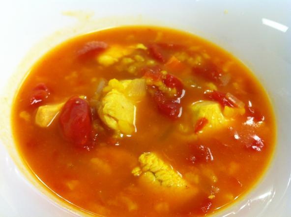 A slow cooker soup