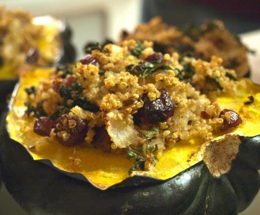 Quinoa-Stuffed Acorn Squash