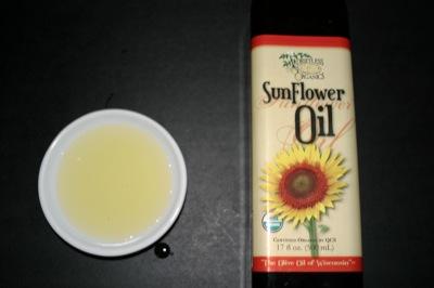 Driftless organic sunflower oil