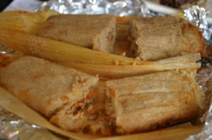 Excellent tamales from El Taquito