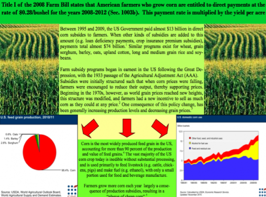 Teaser View of Our Corn Subsidy Traceout