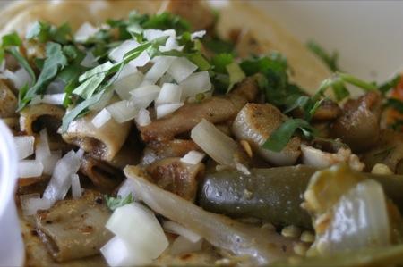 Tacos con tripa