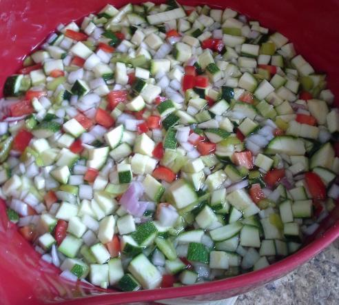 Zucchini relish process